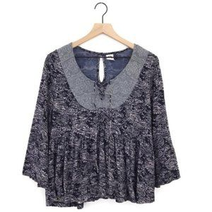 Anthropologie Akemi + Kin Marcella Lace Up Top S